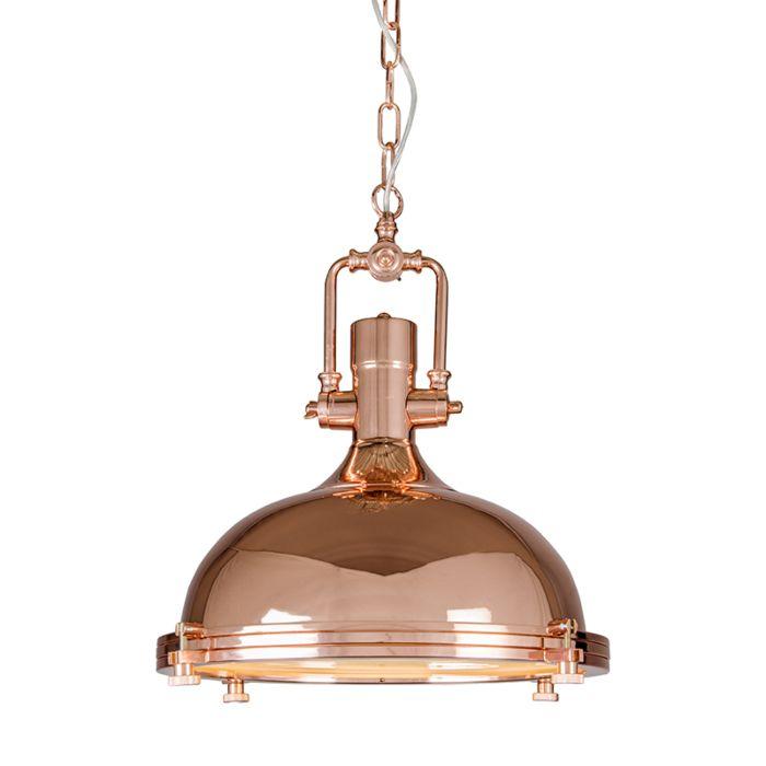 Industriele-hanglamp-koper---Solid