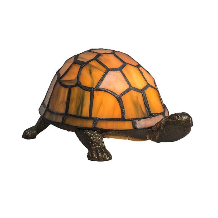 Tafellamp-Tiffany-Turtle-amber