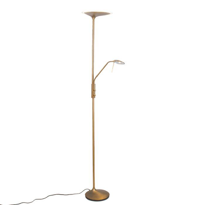 Moderne-vloerlamp-Diva-2-brons
