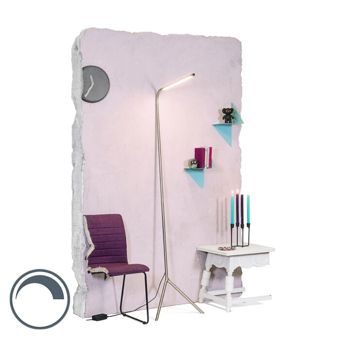 Design-vloerlamp-staal-incl.-LED---Lazy-Lamp