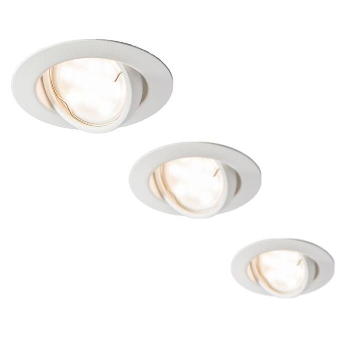 LED-inbouwset-van-3-EDO-spots-kantelbaar-wit