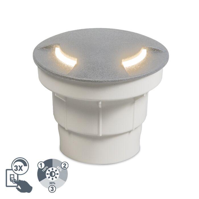 Moderne-buiten-grondspot-grijs-incl.-LED-IP67---Ceci-2