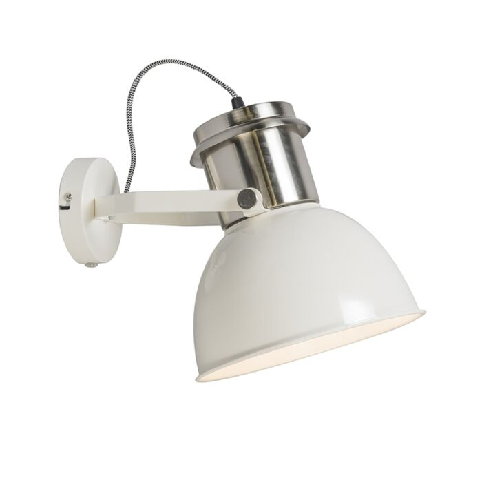 Industriële-wandlamp-creme---Industrial