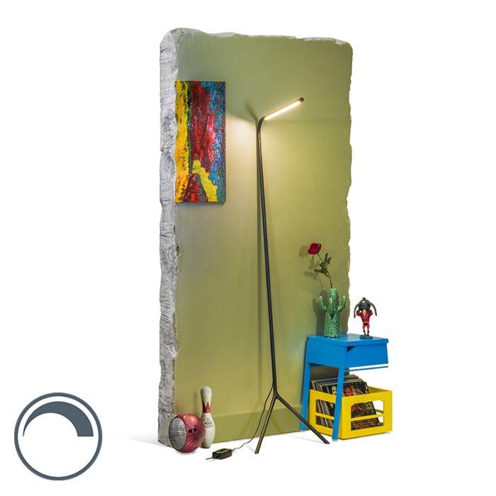 Design-vloerlamp-zwart-incl.-LED---Lazy-Lamp
