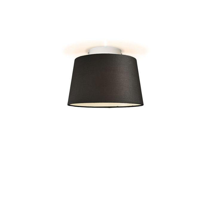 Plafonniere-Ton-rond-30-zwart