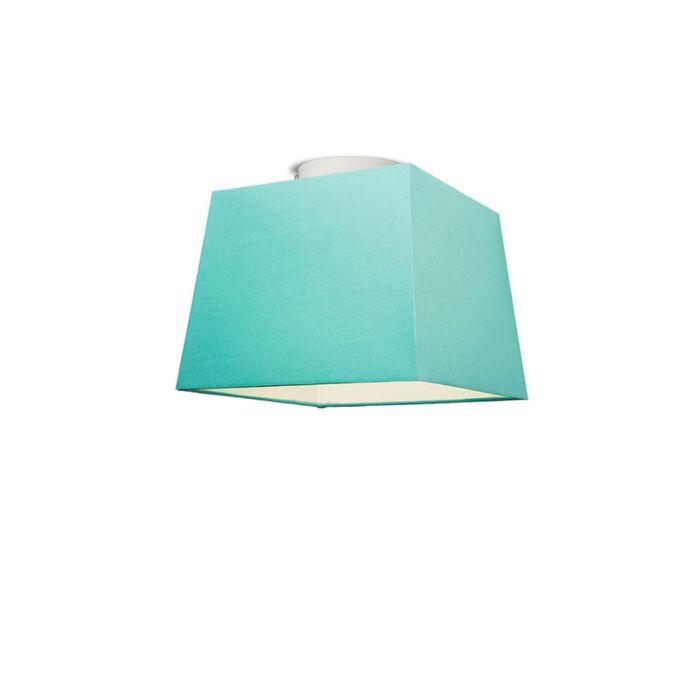 Plafonniere-Ton-vierkant-30-turquoise