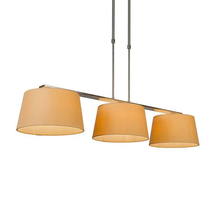 Hanglamp-Combi-Delux-3-kap-rond-30cm-beige