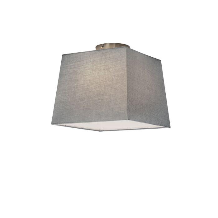 Plafonnière-Combi-30cm-vierkant-grijs