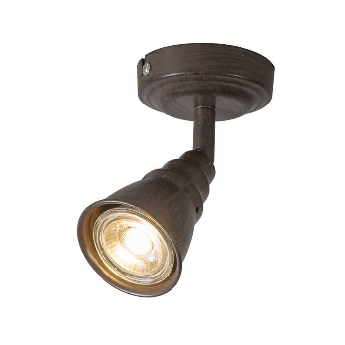 Plafond--en-wandspot-roestbruin-draai--en-kantelbaar---Coney-1