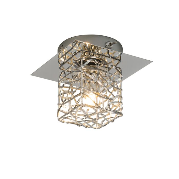 Wand/plafondlamp-Draht-1-chroom