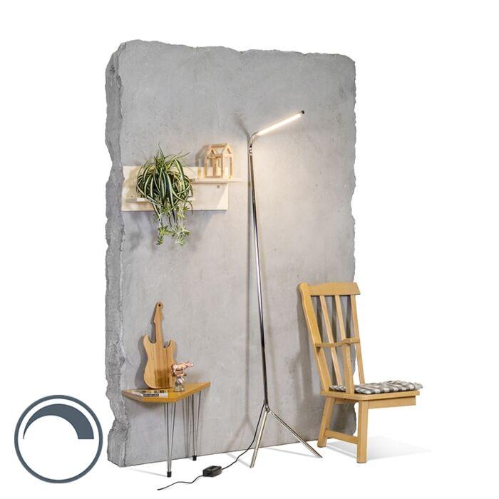 Design-vloerlamp-chroom-incl.-LED---Lazy-Lamp