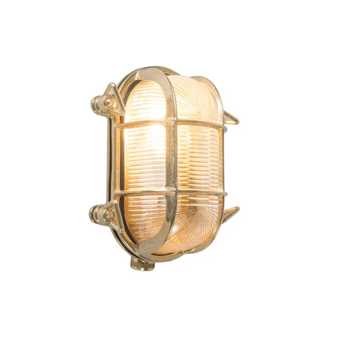 Retro-wandlamp-goud-18-cm-IP44---Nautica-2-ovaal