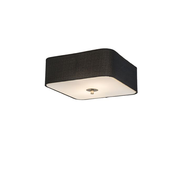 Plafondlamp-vierkant-zwart-30-cm---Drum-deluxe-Jute