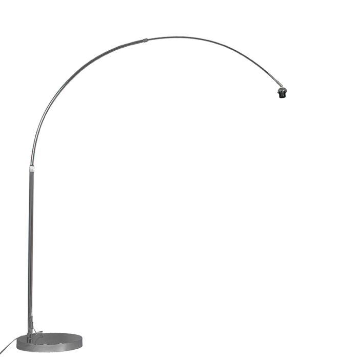 Moderne-booglamp-chroom-verstelbaar-zonder-kap