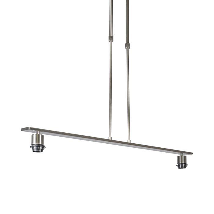 Hanglamp-Combi-2-Deluxe-staal-zonder-kap