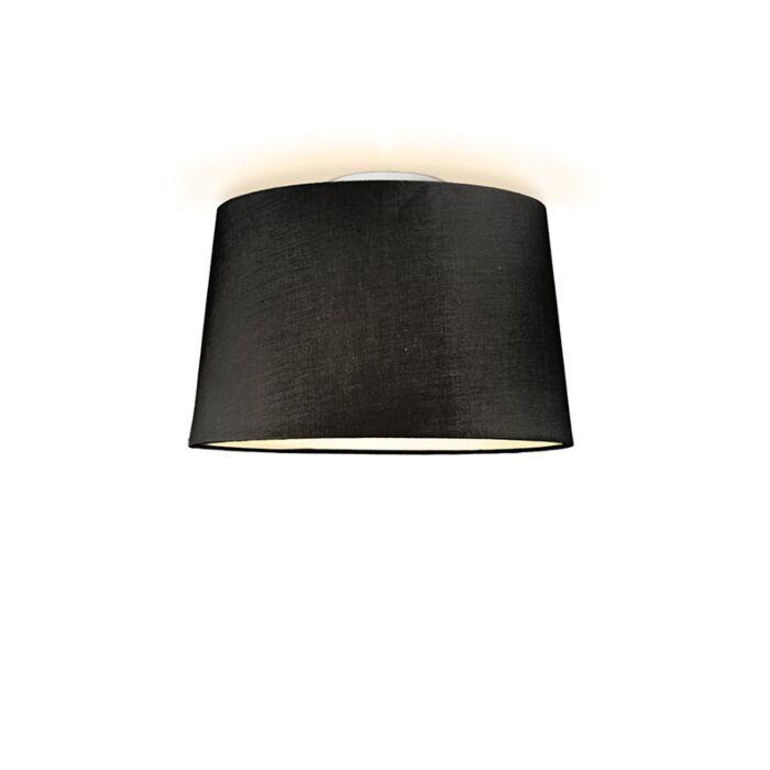 Plafonniere-Ton-rond-40-zwart