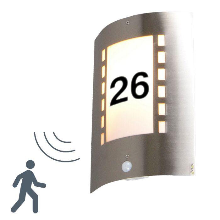 Buitenlamp-Emmerald-IR-met-huisnummer