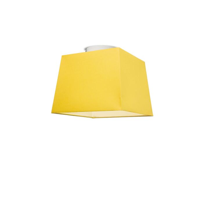 Plafonniere-Ton-vierkant-30-geel