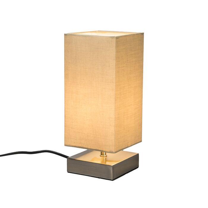 Tafellamp-Milo-vierkant-beige