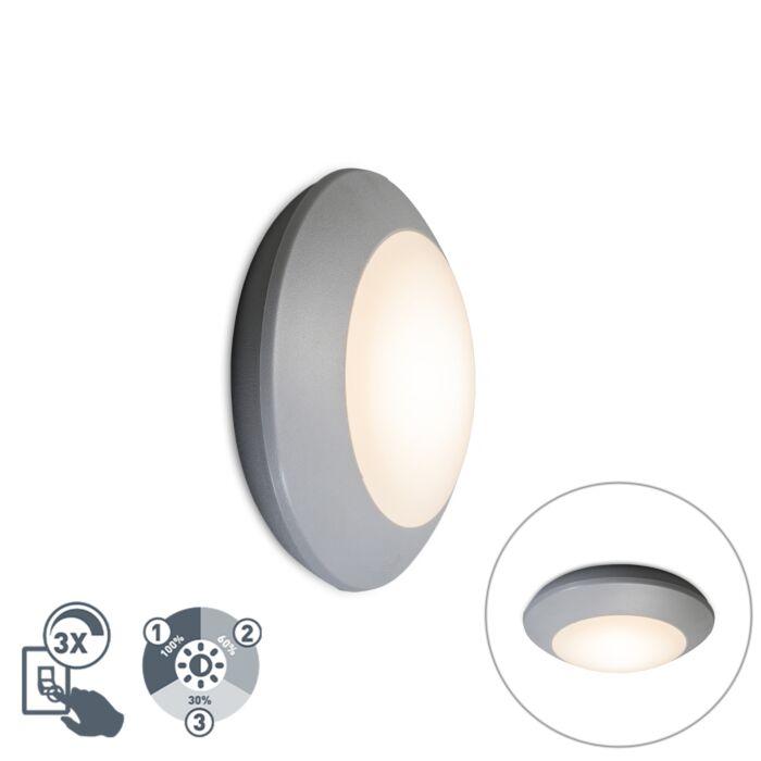 Moderne-plafondlamp-grijs-IP65---Bertina