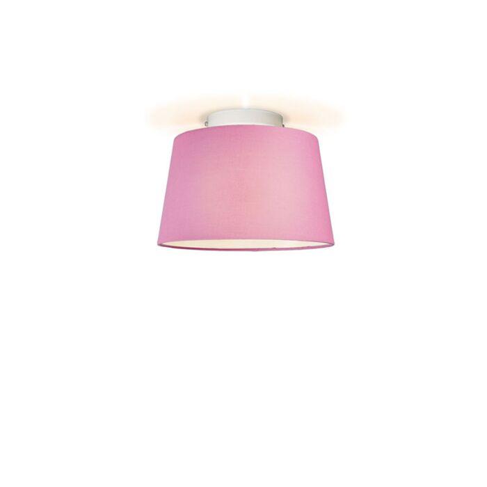 Plafonniere-Ton-rond-30-roze