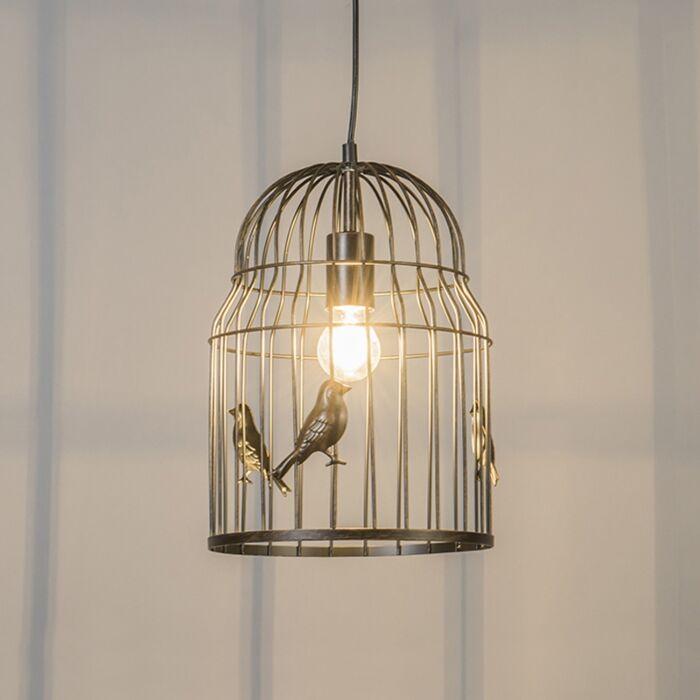 Art-deco-hanglamp-roest---Birdcage