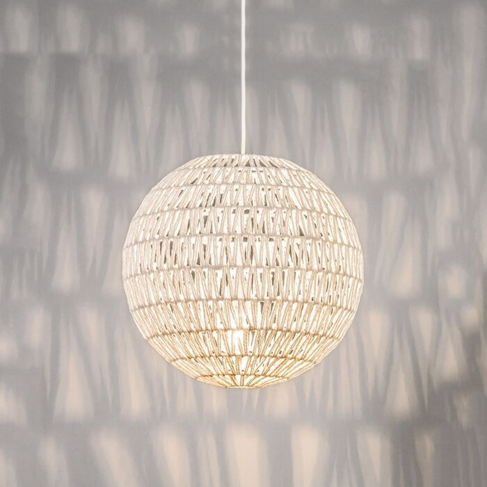 Retro-hanglamp-wit-40-cm---Lina-Ball-40