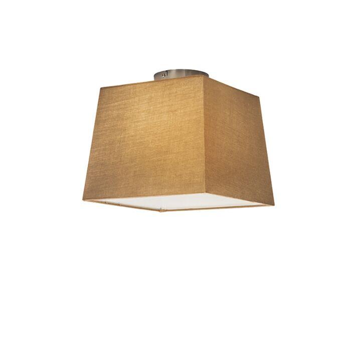 Plafonnière-Combi-30cm-vierkant-beige