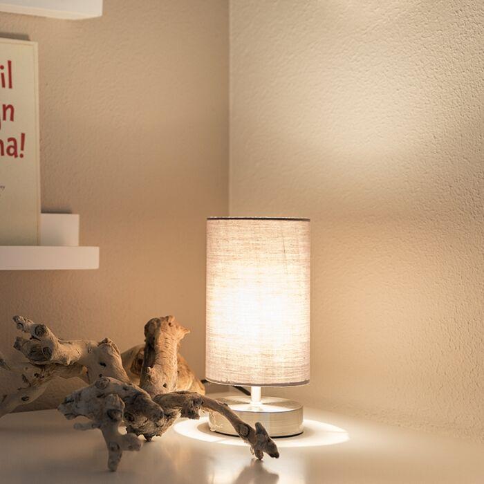 Moderne-tafellamp-grijs-met-staal---Milo-2