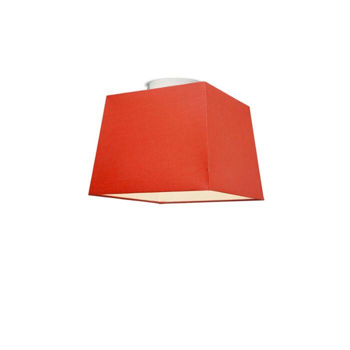 Plafonniere-Ton-vierkant-30-rood