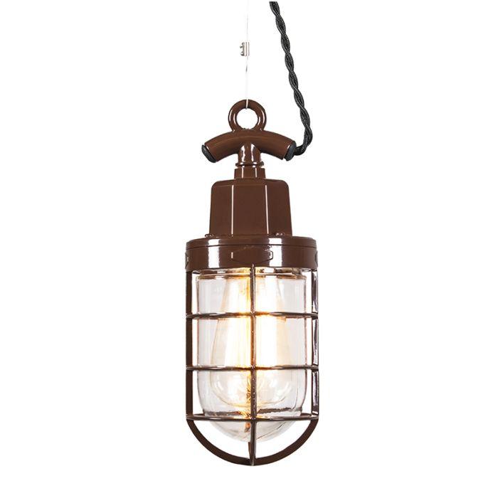 Hanglamp-Port-bruin