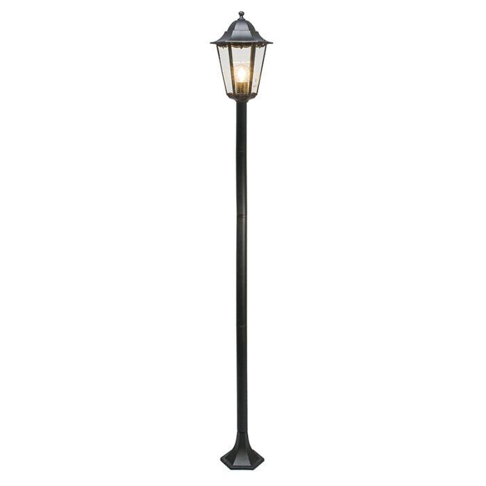Klassieke-staande-buitenlamp-zwart-170cm-IP44---New-Orleans-1