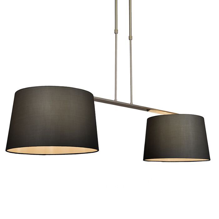 Hanglamp-Combi-Delux-2-kap-rond-40cm-zwart