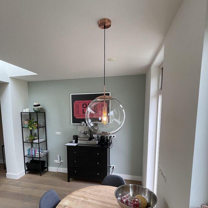 Scandinavische-hanglamp-koper-met-helder-glas---Ball-40