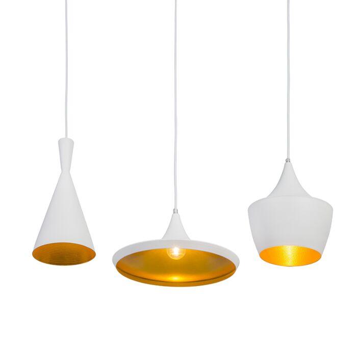 Hanglamp-Depeche-3-wit-met-goud