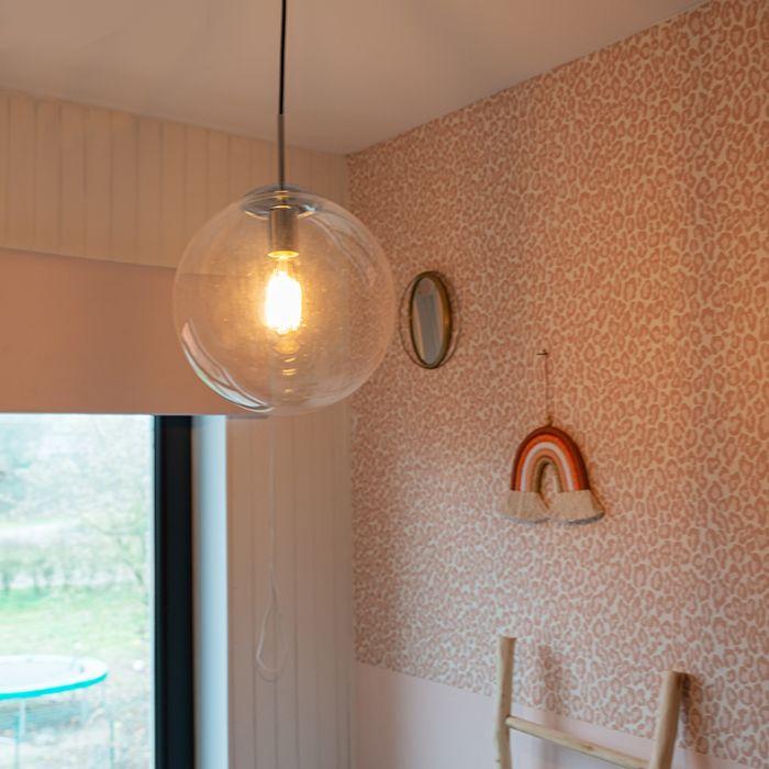Scandinavische-hanglamp-chroom-met-helder-glas---Ball-30