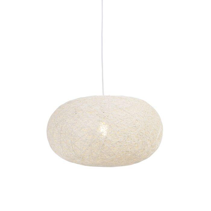 Landelijke-hanglamp-wit-50-cm---Corda-Flat