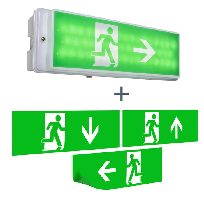 Wandlamp-nooduitgang-incl.-LED-IP65---Emergency-2