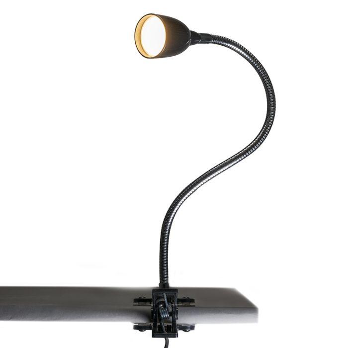 Klemlamp-Flex-zwart-LED