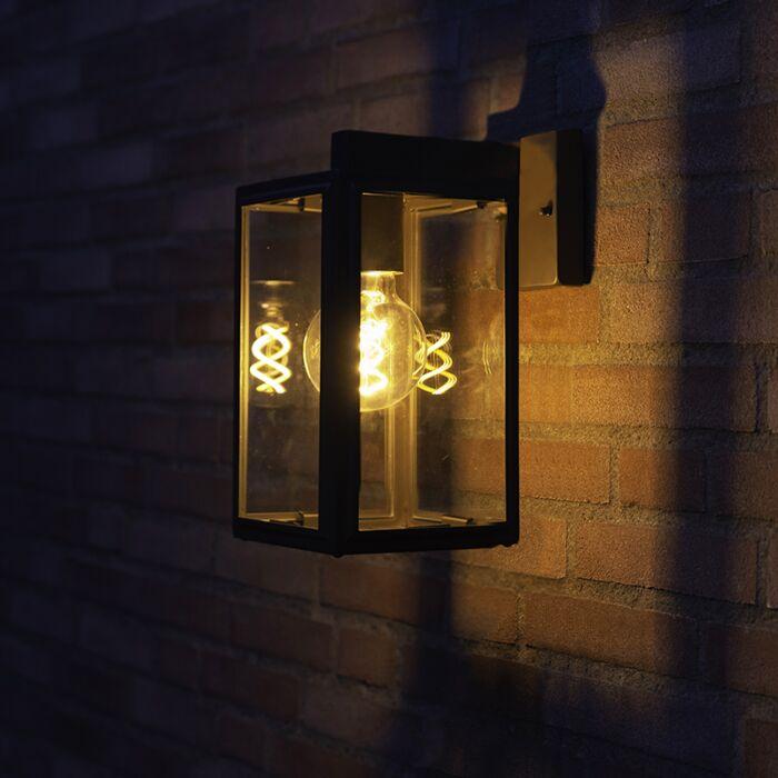 Industriële-buiten-wandlamp-grijs-IP44---Sutton-down