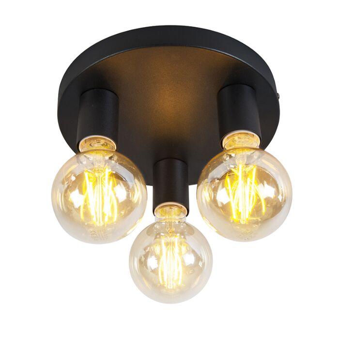 Klassieke-plafondlamp-zwart---Facil-3