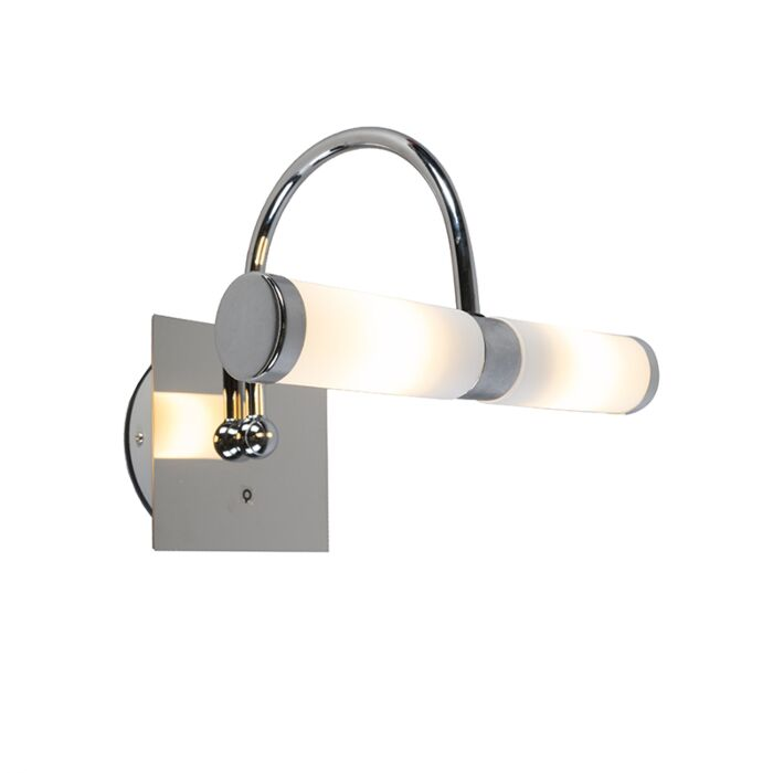 Klassieke-wandlamp-chroom-IP44-2-lichts---Bath-Arc