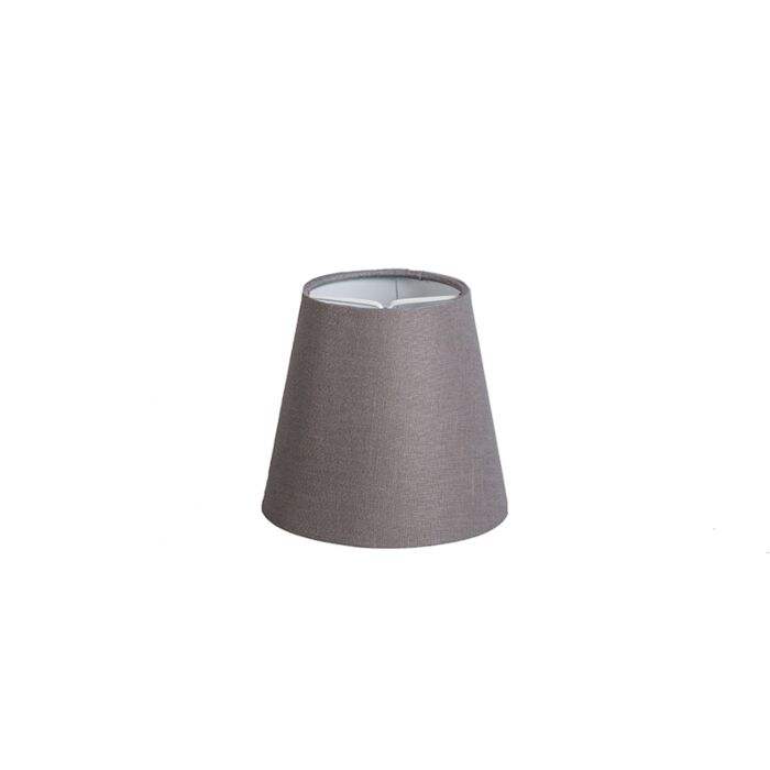 Klemkap-12cm-rond-SC-linnen-bruingrijs