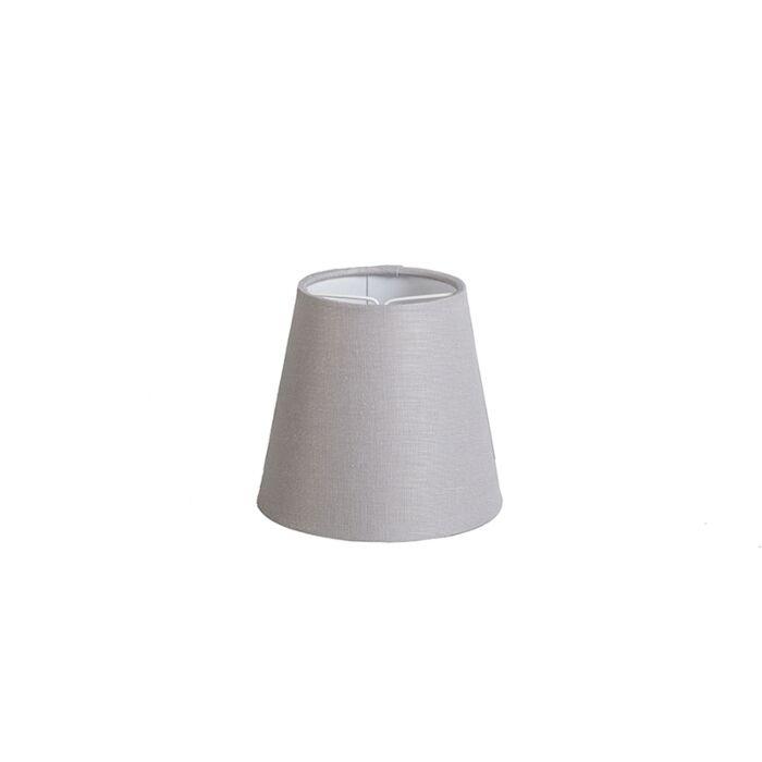 Klemkap-12cm-rond-SC-linnen-lichtgrijs