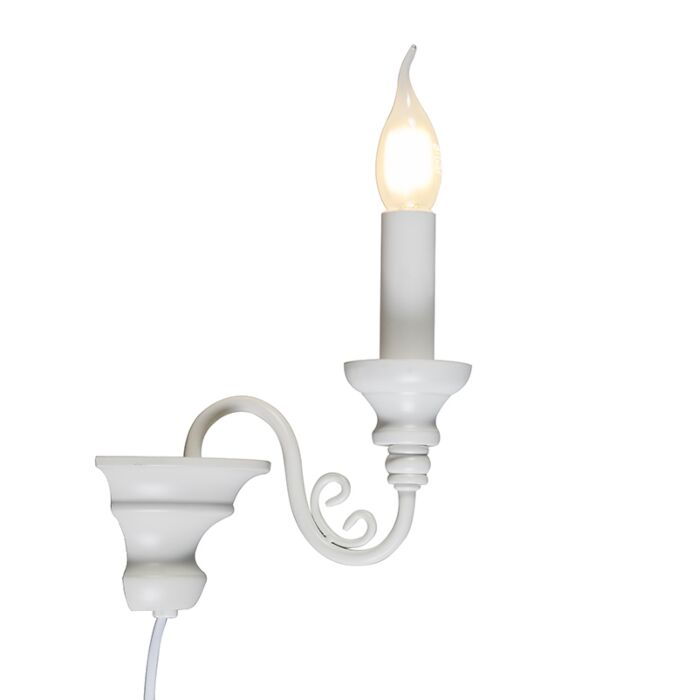 Wandlamp-Marilla-E14-wit