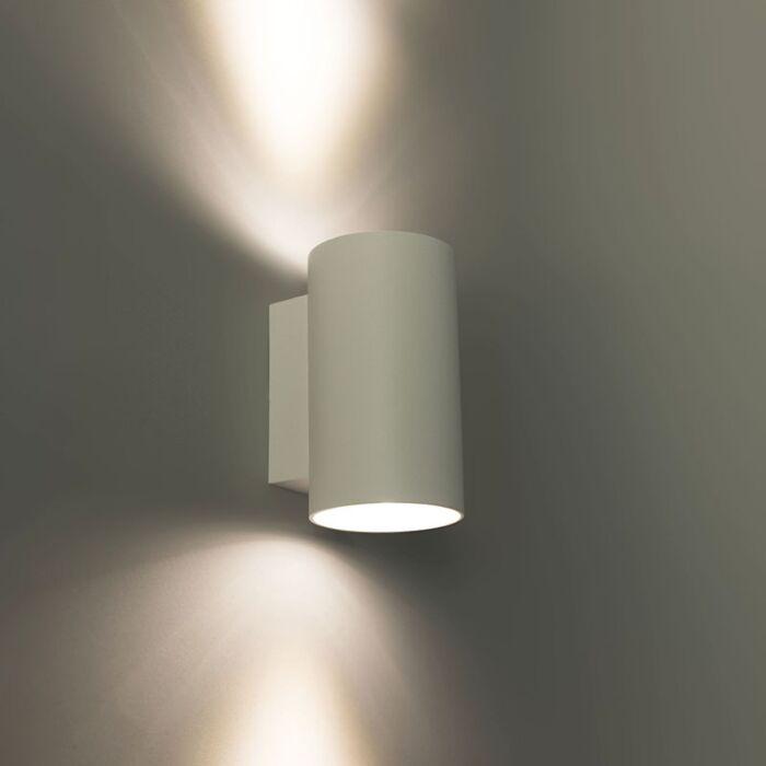 Moderne-wandlamp-rond-wit---Sandy