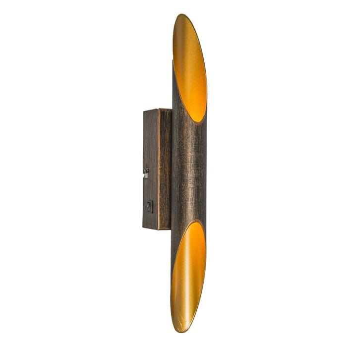 Art-deco-wandlamp-roestbruin-incl.-LED---Organ