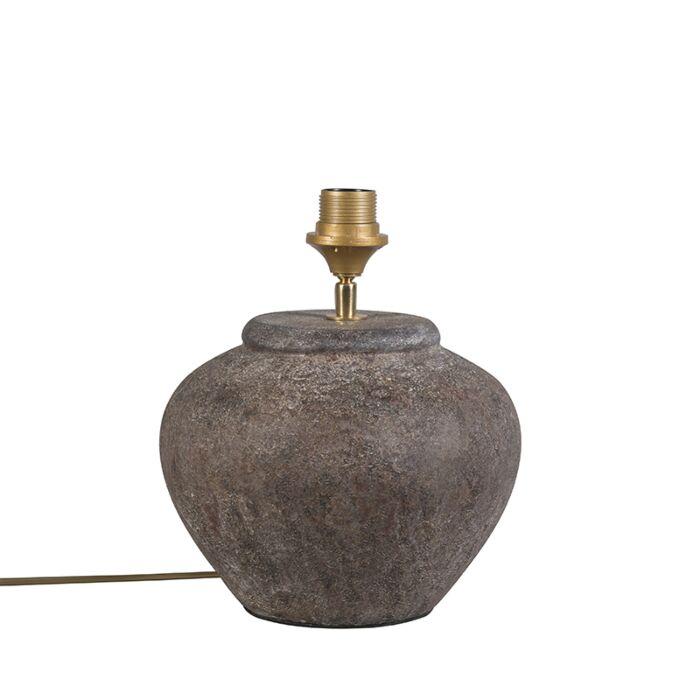 Landelijke-tafellamp-bruin---Palma-XS-vintage