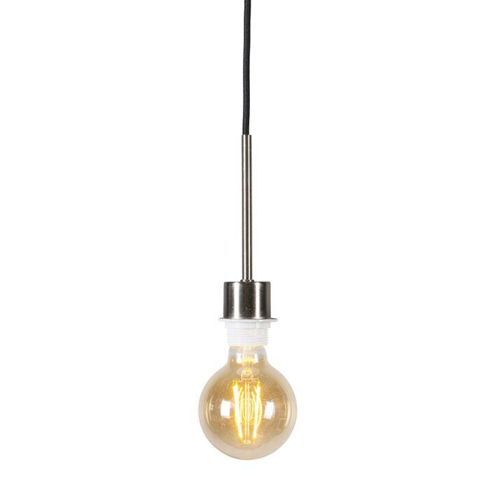Hanglamp-staal-met-zwarte-kabel---Combi-1