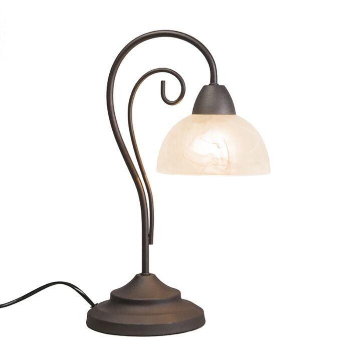 Vintage-tafellamp-roestbruin---Dallas